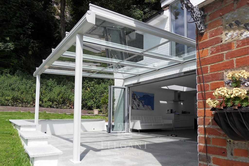 glass veranda patio roof canopies elegant glass verandas uk. Black Bedroom Furniture Sets. Home Design Ideas